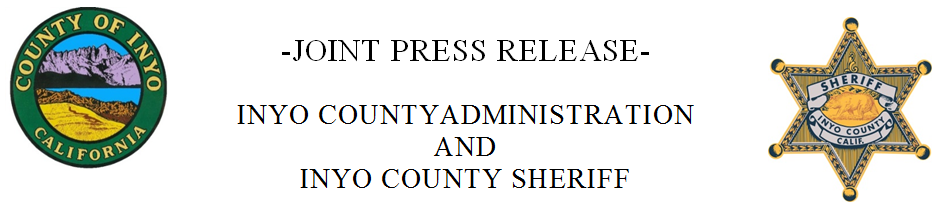 Inyo County Sheriff Press Release
