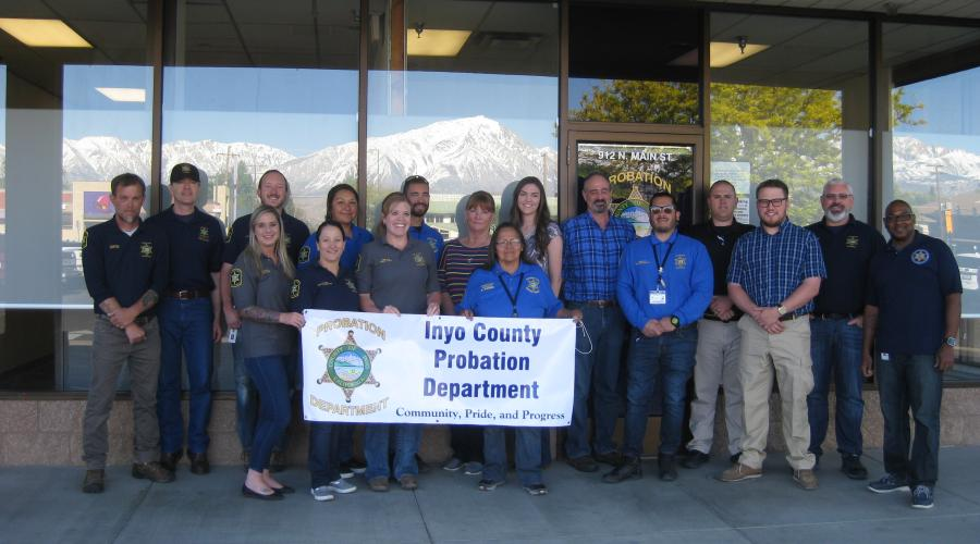 Photo of Probation Department Personnel wearing denim for Denim Day