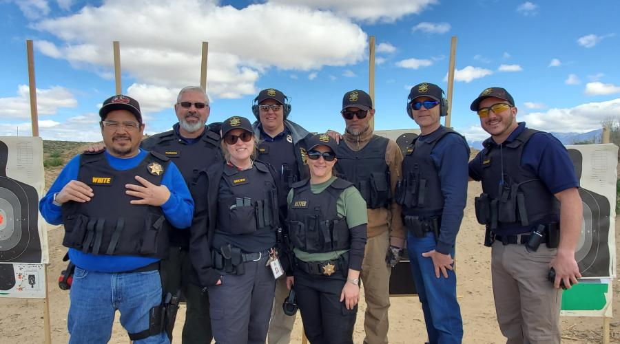 Photo of Probation Department Personnel at Firearms Training