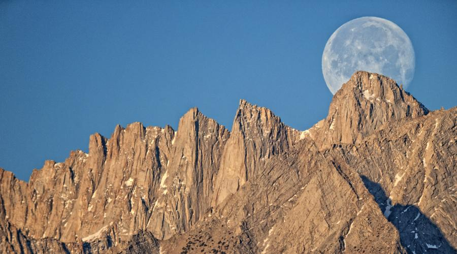 Moon over Mt. Whitney