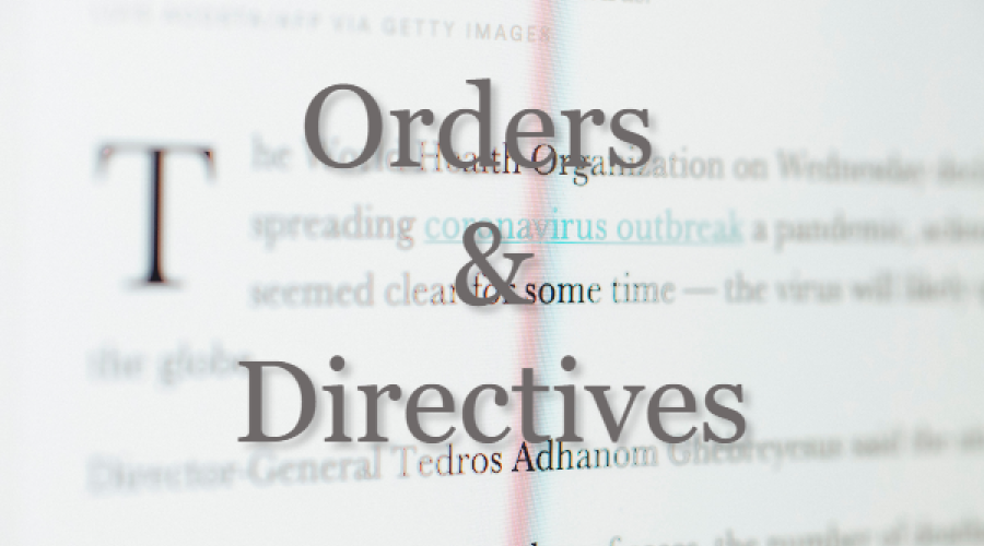Orders & Directives