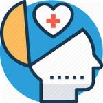 Mental Health Icon of Head and Heart