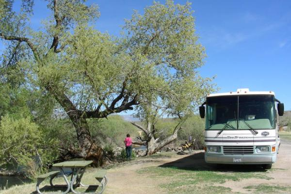 Pleasant Valley Campsite with RV